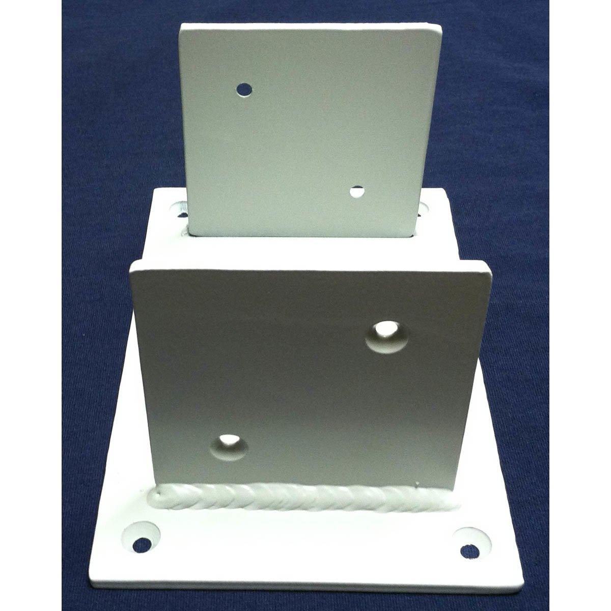 2 - Sided Wood Post Base Brackets Painted White