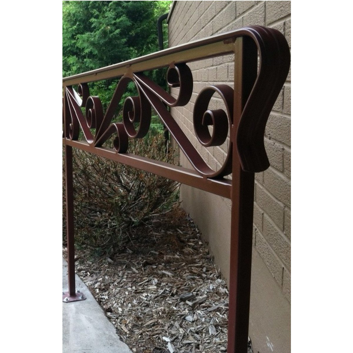 """Custom Scroll Cap Rail Railing"""