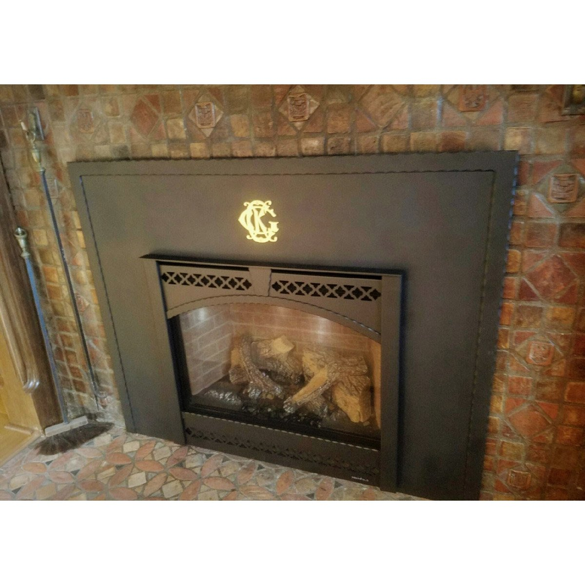 Custom Steel Industrial Fireplace Surrounds