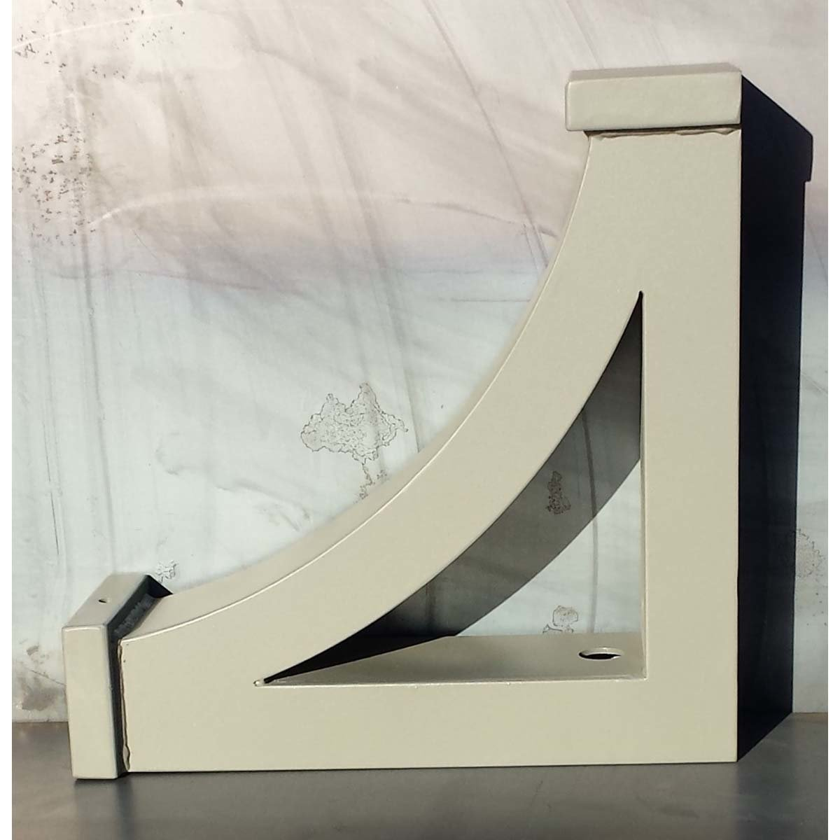 """""""L"""" Angle Bracket - Boxed and Gusseted Support Bracket"""