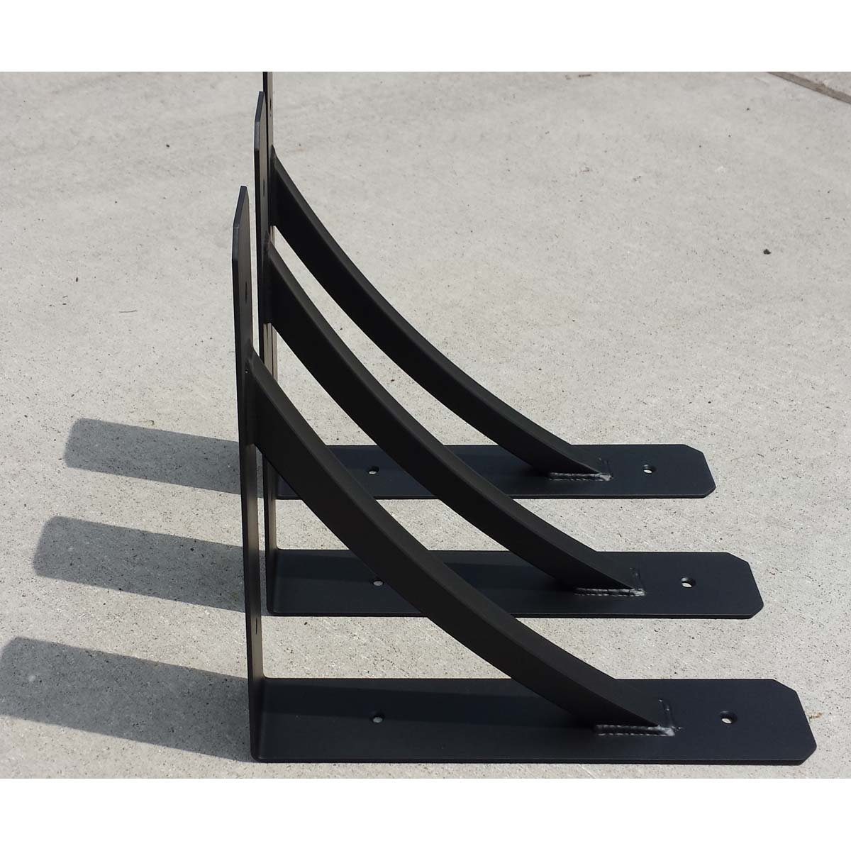 """""""L"""" Angle Gusseted Steel Support Bracket"""