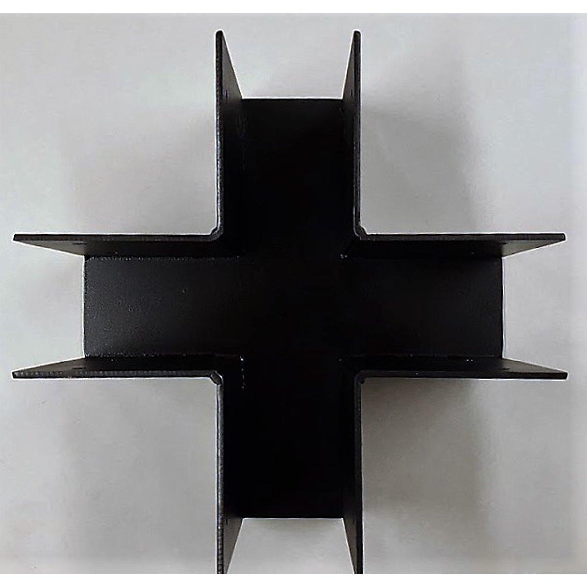 Post / Column Cross Beam Brackets with Black Paint