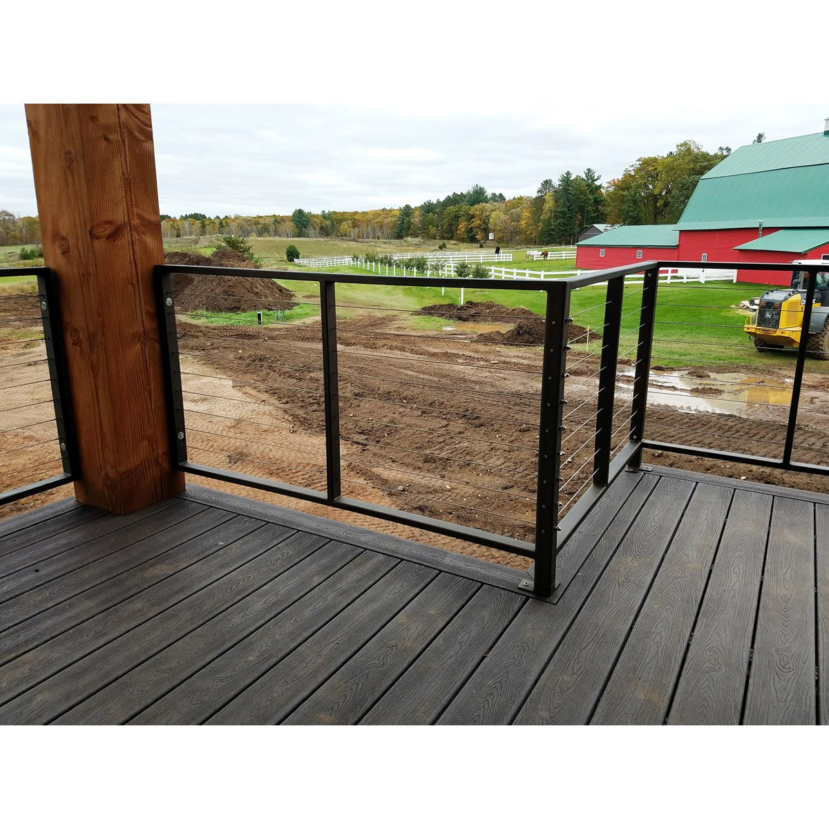 Steel Frame / Stainless Steel Cable Railing