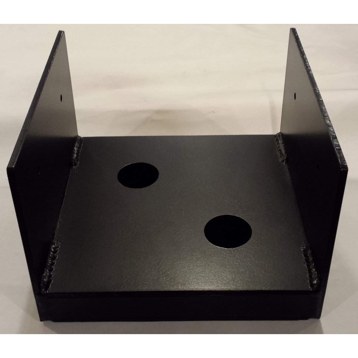 Uplift Post Base Brackets with Inside Floor Mounts Painted Black