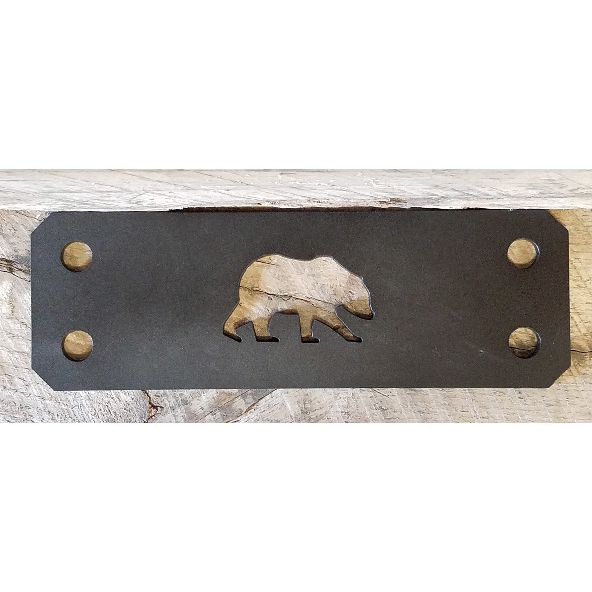 Decorative Timber Connecting Bracket with a Bear Cut Out